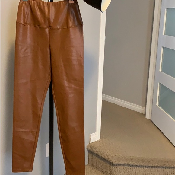 Wilfred brown leather leggings never worn